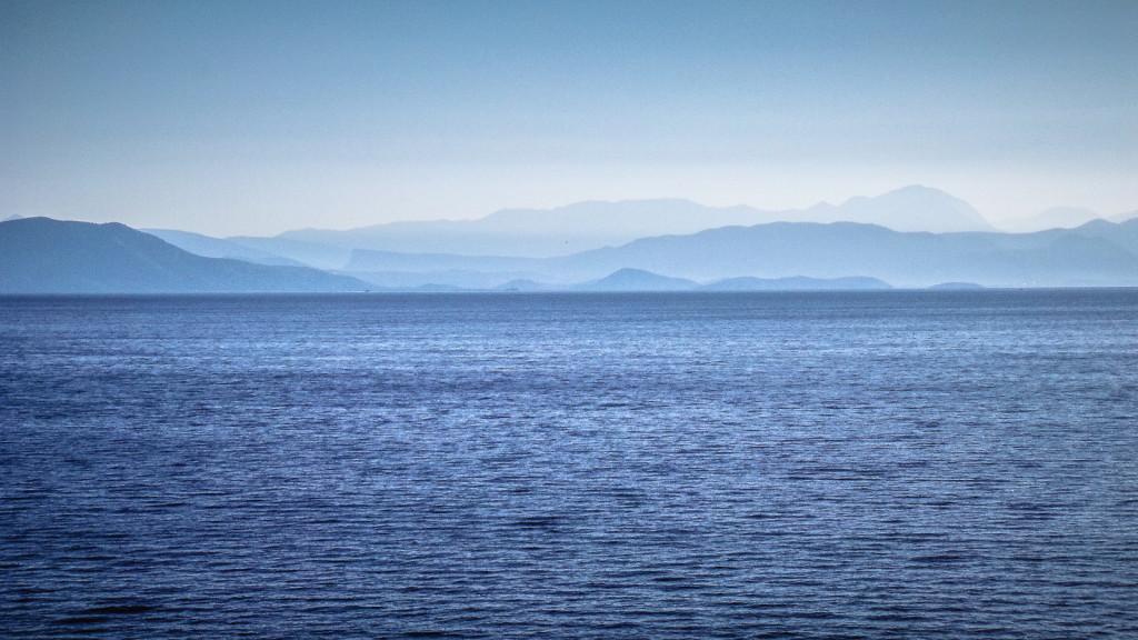 blau weißes Korfu